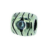 Piccolo Silber Charms mit Stein, Kugel, Bead Silber APX-006 von Piccolo das Original