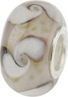 Murano Bead, Murano Glaskugel für Bettelarmband braun, GPS 24 von Charlot Borgen Design