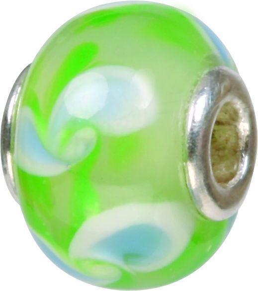 Mundgeblasene Muranoglaskugel mit Silberkern, Charm, Bead, GPS 24 von Piccolo das Original