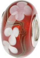 Murano Bead, Murano Glaskugel für Bettelarmband rot, GPS 04 von Charlot Borgen Design