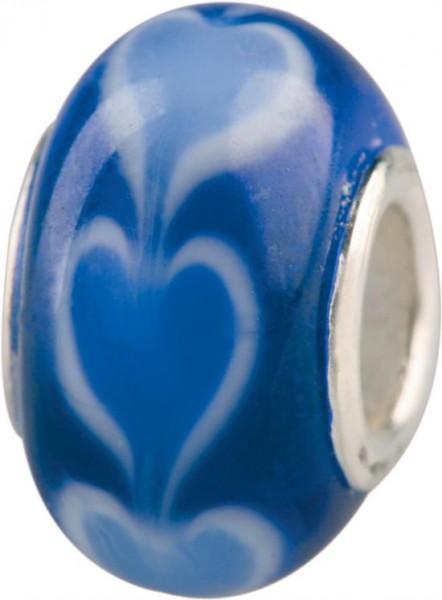 Murano Bead, Murano Glaskugel für Bettelarmband blau, GPS 08 von Charlot Borgen Design