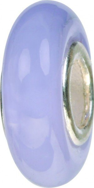 Mundgeblasene Muranoglaskugel schmal violett GPS-01 / Charm / Bead / Anhänger fürs Bettelarmband