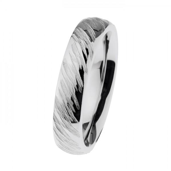 Ernstes Design R536 Evia Ring, Vorsteckring, Edelstahl, poliert, geschliffen, 5mm