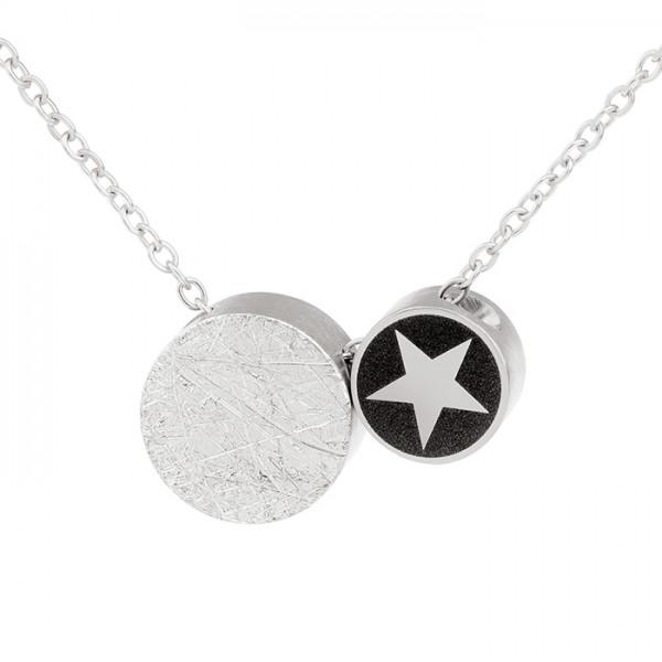 Ernstes Design Evia Set K710 Halskette mit 2 Anhängern Edelstahl