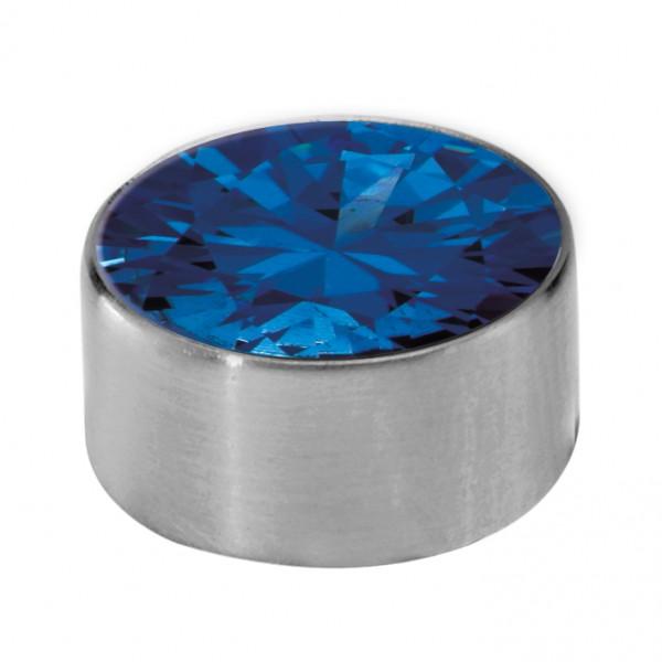 Melano Edelstahl Fassung, Aufsatz für Ring von MelanO Schmuck zum Wechseln MO1SR 4065B blau