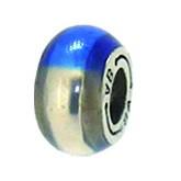 Piccolo Anhänger, Charm, Bead, Kugel APF 004-2 Emaillekugel mit Silberkern von Picccolo Schmuck