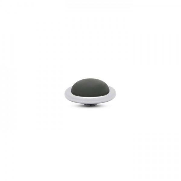 Melano Vivid, VM32 Aufsatz / Fassung Frosted Round, 14mm, Edelstahl / Stein in black