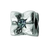 Silber Charms mit Swarovski Steinen Anhänger, Kugel, Bead Silber APS 008 von Piccolo das Original