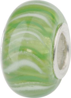 Murano Bead, Murano Glaskugel für Bettelarmband grün, GPS 19 von Charlot Borgen Design