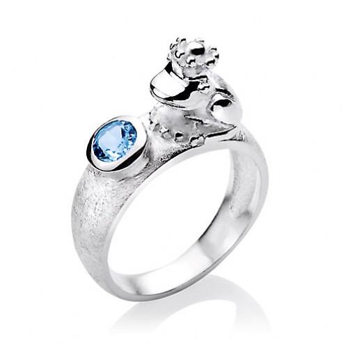 heartbreaker Ring mit Frosch und Stein LD FG 11 TB Heartbreaker Schmuck designed by Drachenfels