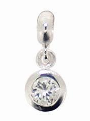Piccolo Silber Anhänger mit Zirkonia white, Bead Silber APJ 019 von Piccolo das Original