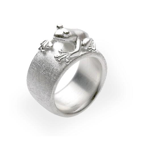 Drachernfels Ring Frosch Silber D FR 17 Drachenfels Design Froschkönig Ring