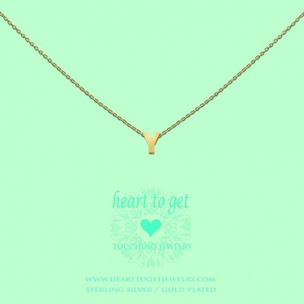 Heart to get Anhänger Buchstabe Y Silber goldfarben L166INY13G