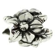 Jolie Blumen Bead, Anhänger, Charm, Silberkugel, Element in Silber ABK 050 von Jolie Collection