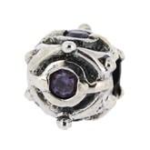 Silber Charms mit Stein, Anhänger, Kugel, Bead Silber APX-007 von Piccolo das Original