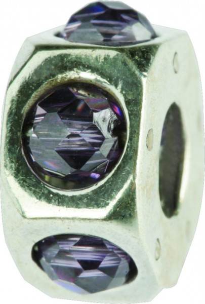 Silberkugel mit Zirkonia, Charm, Charlot Borgen Design
