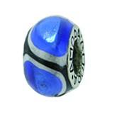 Piccolo Anhänger, Charm, Bead, Kugel APF 008 2 Emaillekugel mit Silberkern von Picccolo Schmuck