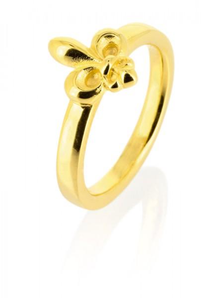heartbreaker designed by Drachenfels style & go-Steckring /Vorsteckring franz. Lilie golden LD FL 13