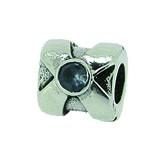 Silber Charms mit blauem Stein Anhänger, Kugel, Bead Silber APX-001 von Piccolo das Original