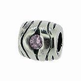 Piccolo Silber Charms mit rosa Stein, Kugel, Bead Silber APX-006 von Piccolo das Original