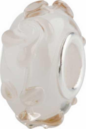 Muranoglaskugel mit Silberkern, Charm, Charlot Borgen Design