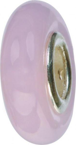 Mundgeblasene Muranoglaskugel schmal rosa GPS-01 / Charm / Bead / Anhänger fürs Bettelarmband