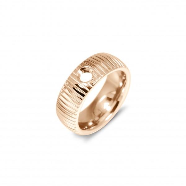 Melano Vivid Ring Striped Edelstahl rosé beschichtet VR08