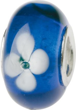 Murano Bead, Murano Glaskugel für Bettelarmband blau, GPS 03 von Charlot Borgen Design