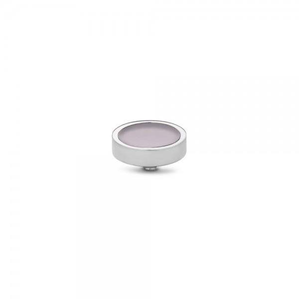Melano Twisted Ringaufsatz, Fassung, Gemstone Plate, TM62, Edelstahl mit Rosenquarz