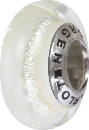 Murano Bead, Murano Glaskugel für Bettelarmband white, GPS 86 von Charlot Borgen Design