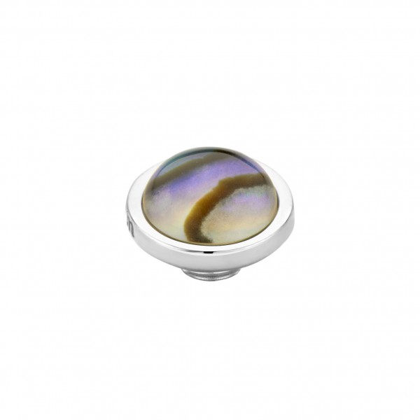 Melano Vivid M01SR 9092 Aufsatz/Fassung aus Edelstahl mit Stein in Farbe Abalone