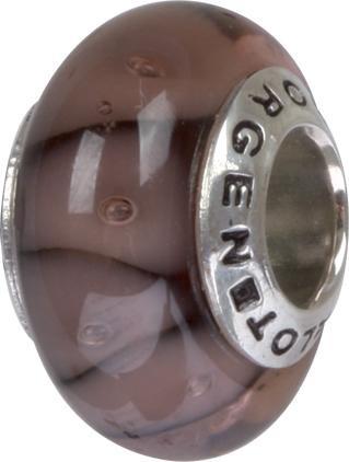 Murano Bead, Murano Glaskugel für Bettelarmband braun, GPS 88 von Charlot Borgen Design