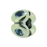 Silber Charms mit blauem Stein Anhänger, Kugel, Bead Silber APX-002 von Piccolo das Original