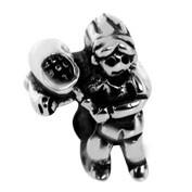 Jolie Tennisspiel Silberkugel, Element, Figur, Charm, Anhänger Bead ABK-024 von Jolie Collection Sch