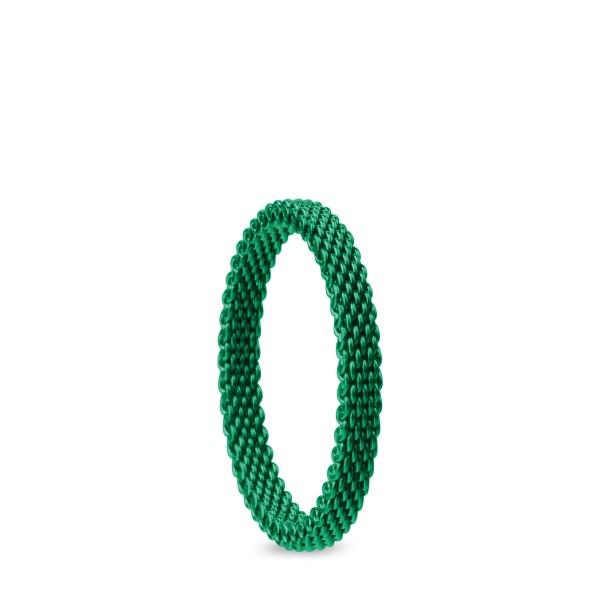 Bering Innenring Schmal Edelstahl Milanaise grün 551-55-X1