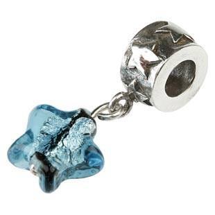 Silberanhänger geschwärzt mit Kristallsternchen, Charlot Borgen Design
