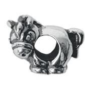 Jolie Pferd Silberkugel, Element, Figur, Charm, Anhänger Bead ABK-018 von Jolie Collection Schmuck