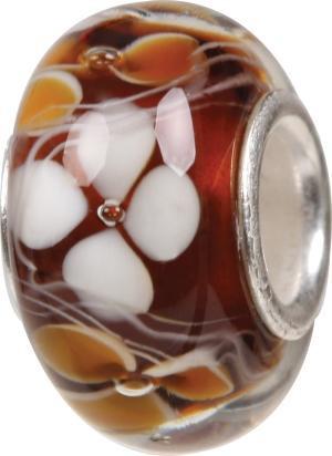Murano Bead, Murano Glaskugel für Bettelarmband braun, GPS 04 von Charlot Borgen Design