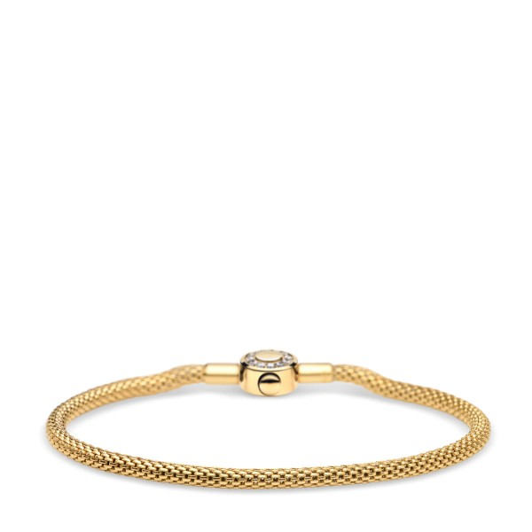 Bering Charm-Armband Edelstahl goldfarben / Zirkonia mit dekorativem Verschluss 616-20-X
