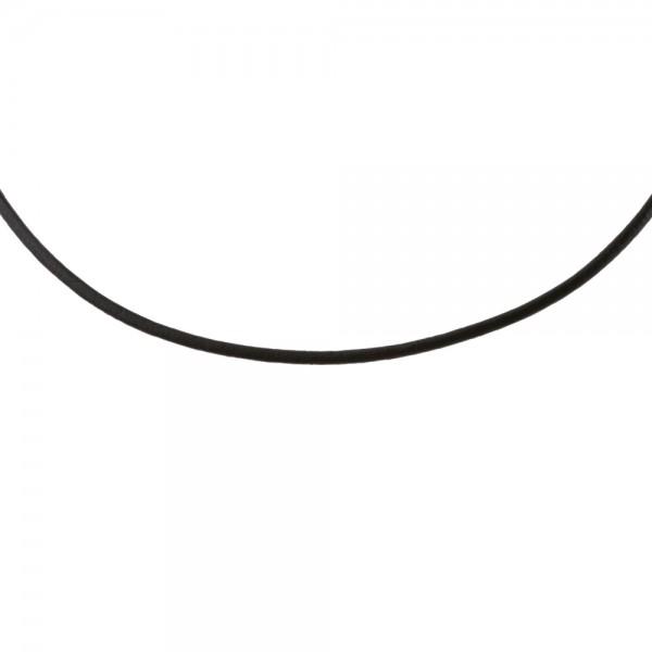 Ernstes Design L2.SW Lederkette Schwarz für Anhänger Ø ca 2 mm
