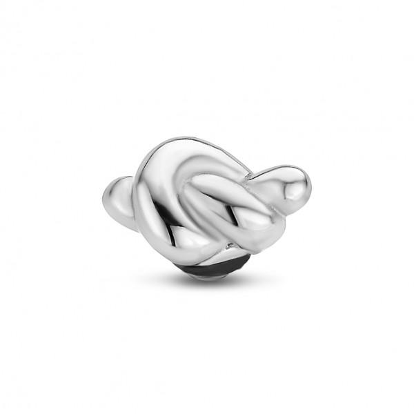 Melano Twisted Ringaufsatz, Fassung Knoten Edelstahl TM51
