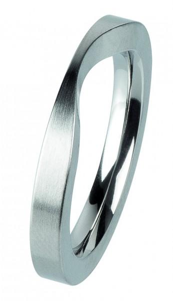 Ernstes Design Vorsteckring, Beisteckring, ED vita,Ring aus Edelstahl 3mm R299