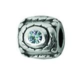 Silber Charms mit Swarovski Steinen Anhänger, Kugel, Bead Silber APS 010 von Piccolo das Original