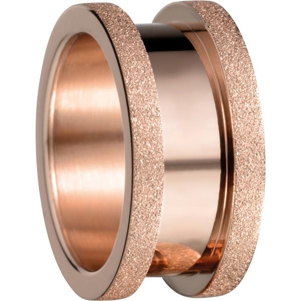 Bering 527-39-X4 Kombinationsring Basisring / Breit Edelstahl rosé Sparkling Effekt