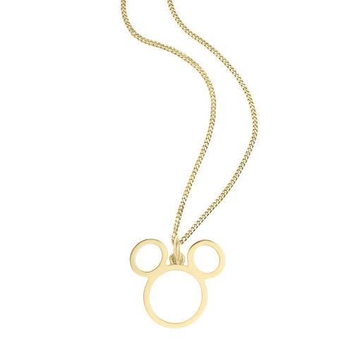 """So Cosi Disney """"Team Mickey"""" Halskette, Collier, Silber goldfarben beschichtet NGX-WDM003"""