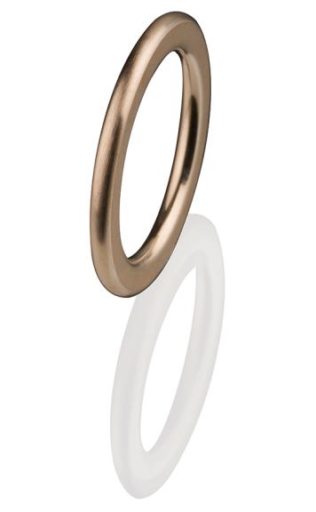 Ernstes Design Vorsteckring, Beisteckring, ED vita, schmaler Ring aus Edelstahl 2 mm R259