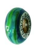Piccolo Schmuck Anhänger, Charm, Bead, APF 053 Emaillekugel mit Silberkern von Piccolo das Original