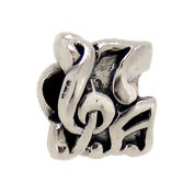 Jolie Musiknote Anhänger, Charm, Silberkugel, Element, Bead in Silber ABK-043 von Jolie Collection