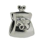 Jolie Täschen Handtasche Bead, Anhänger, Charm, Silberkugel, Element in Silber ABK 058 v Jolie Schmu