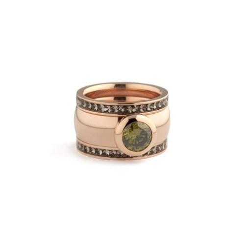 Melano Ring v Melano Magnetic Edelstahl Ringe rosé zum kombinieren mit Fassung 18mm breit